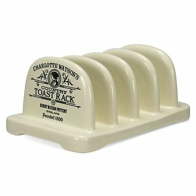 Charlotte Watson Made in the UK Cream Ceramic Toast Rack Stand