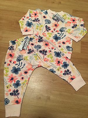 BNWT 2015 Bonds Floral Jumper And Harem Pants Tracker Set Size 2