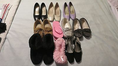 Lot of 10 Woman's shoes size 5.