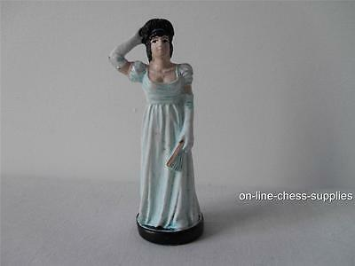 Hand painted Battle of Waterloo Spare Chess Piece French Queen *Used*