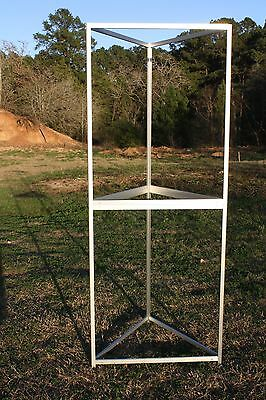 """Trade Show Booth Triangle Aluminum, Easy To Assemble 97"""" Tall 18 Pieces W/ Bags"""