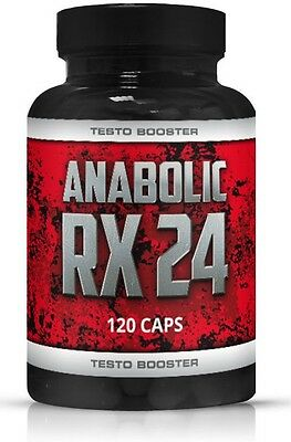 Anabolic RX24 Testo Booster Muskelaufbau Testosteron Booster Fatburner extrem