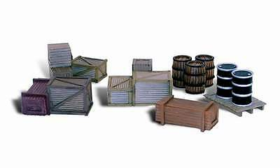 Woodland Scenics / SCENIC ACCENTS #2739 O SCALE - ASSORTED CRATES - NEW A2739
