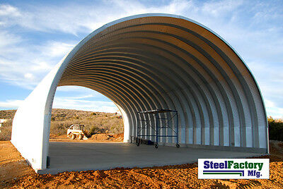 Steel Factory Mfg S30x50x17 Prefab Metal Arch Cover Storage Building RV Shelter