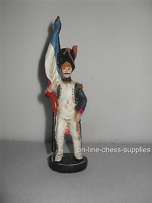 Hand painted Battle of Waterloo Spare Chess Piece French Flagbearer 13cm *Used*