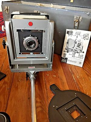 2 Calumet 4x5 Field Cameras Monorail Standard, Long View and Accessories, Case