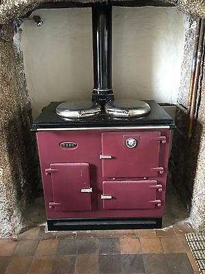 Oil-fired Double-Hob Purple Esse. Recently Serviced: New Baffles and Pump.