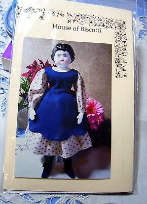 "14"" China Doll Pattern for 2 Dresses and Body"