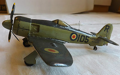 Military Wooden Trench Art RAF Hawker Sea Fury F11 Plane Recognition (1429)