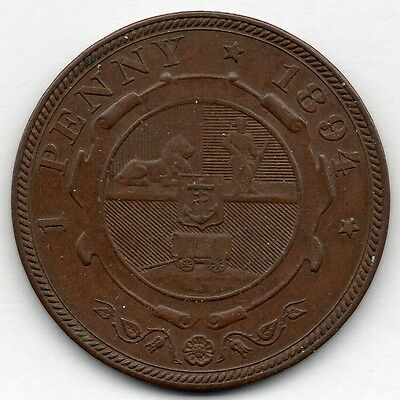 South Africa 1 Penny 1894 Coin