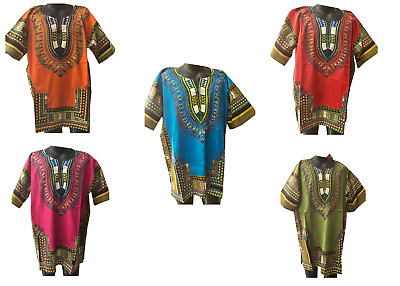 African Men Women Dashiki Shirt Top Blouse Hippie Tribal Caftan
