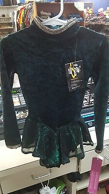 GILDA MARX kids Sz 4/6 ICE SKATING  green and black with a shimmer