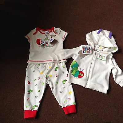 The Hungry Caterpillar 2 Piece Baby Set & Jacket 3-6 Months Brand New with Tags
