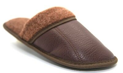 Mens Slip On Cool Warm Indoor Slippers Light Brown