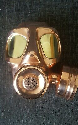 Metal Sculpture, Wall art , Gas Mask , Militaria , Contemporary , Steampunk
