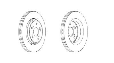 DDF1312-12 Month Warranty! 2x Brand New Ferodo Front Brake Disc