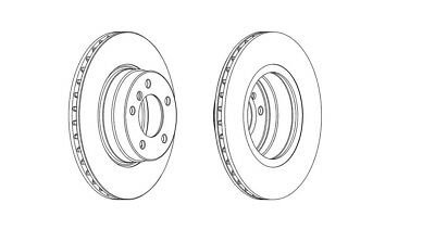 2x Brand New Ferodo Front Brake Disc DDF679C 12 Month Warranty!