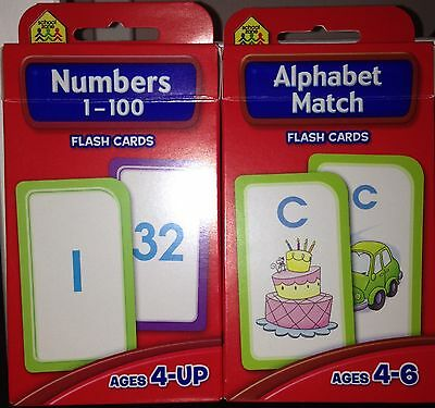 2 PK Hinkler Numbers 1-100 & Alphabet Match Flash Cards. Free Post.