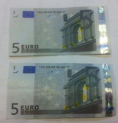 2 Billets 5€  2002 France et Portugal Wim Duisenberg TBE