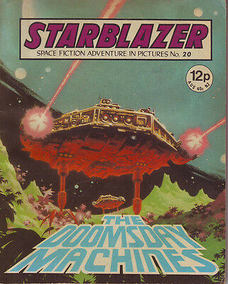 Starblazer  No 20 The Doomsday Machines Space Fiction Adventure In Pictures 1980