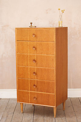 Vintage Retro Mid Century Meredew Tallboy Chest of Drawers