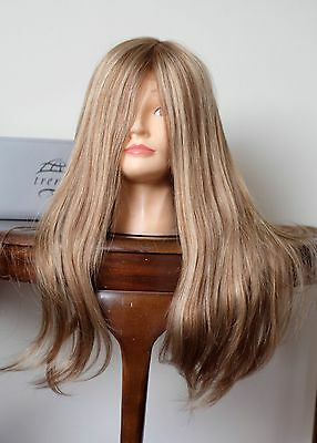 100% human hair long wig by Trendco (Diamond) in light warm brown (246R) new