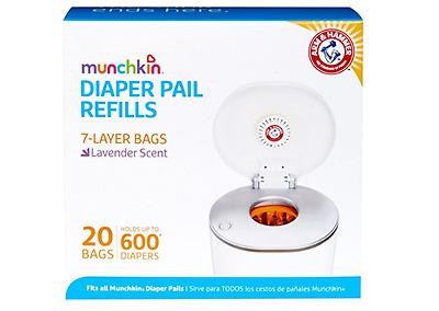 Munchkin Arm & Hammer Diaper Pail Snap Seal and Toss Refill Bags (20 Bags)