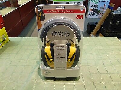 New 3M Radio Earmuff Worktunes Hearing Protector Mp3/ipod Compatiable Am/fm