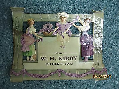 Antique   W. H. Kirby Whiskey Advertisement