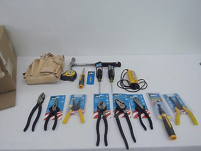 Ideal 35-800 Electricians Tool Pouch Kit, 16 Pc