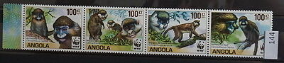 S0 0144 WWF Animals Angola MNH 2011 Monkey Macaque