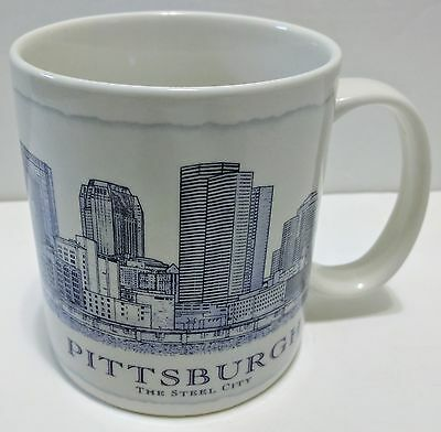 NEW (2008) STARBUCKS City of Pittsburgh Architectural Series 18oz Coffee Mug Cup