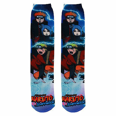 Naruto Shippuden 360 Photoreal 1 Pair Of Socks NEW Anime Cosplay