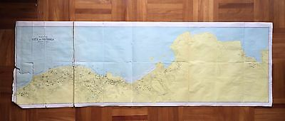 Antique China Hong Kong City Of Victoria Giant Plan Map Made In Scotland 30's