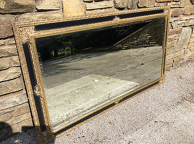 Antique Style Large Wall Mirror Gilt And Black Coloured Decorative Wood Frame