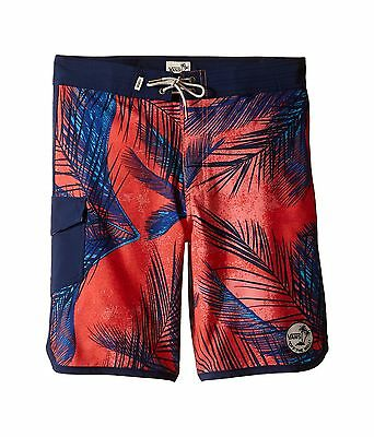 f7be7fa492 Boys Vans Mixed Scallop Boardshorts Swim Surf Shorts Multi-Colored Size 22