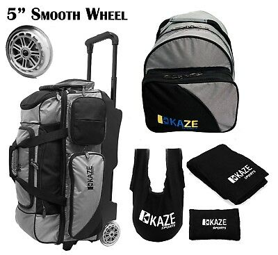 KAZE SPORTS 3 Ball Bowling Roller Smooth Wheel + Add-On Spare Tote Bag Seesaw 4