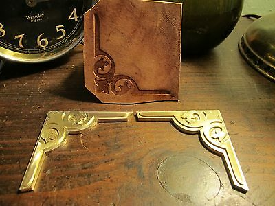 Brass CORNER set Leather Bookbinding letterpress Stamp embossing die ST7