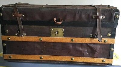 Jenny Lind Trunk Restored wood brass antique steamer dome top
