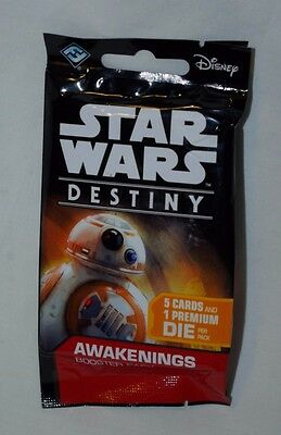 1x UNOPENED Star Wars Destiny Awakenings Sealed Booster Pack Fantasy Flight ONE