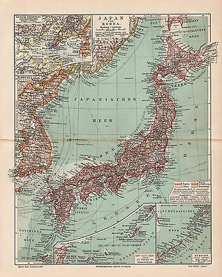 Antique map. JAPAN & KOREA.  1905
