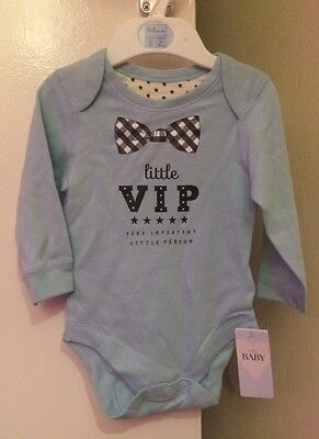 M&S Baby VIP Long Sleeve Vest 6-9 Months BNWL