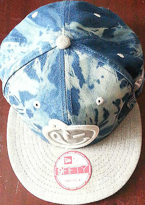 new era 9 fifty snapback baseball cap 1 size fits most hat YUMS BLUE CAMOUFLAGE