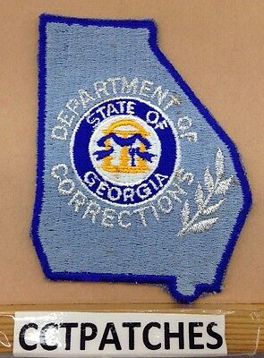 Vintage Georgia State Department Of Corrections Shoulder Patch Ga