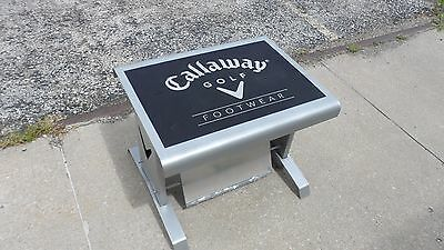 Callaway Golf Footwear Store Display Stool Mirror Bench Seat Man Cave