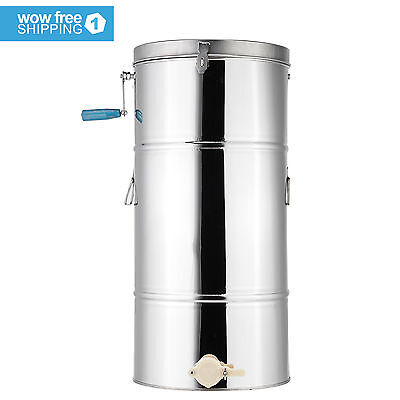 Stainless Steel Honey Extractor 2 Frame Beekeeping Equipment Stainless