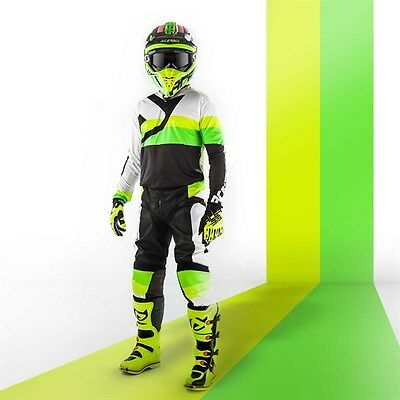 Set Jersey L + Trousers 34 Acerbis Spacelord Mx Black Green Cross Enduro