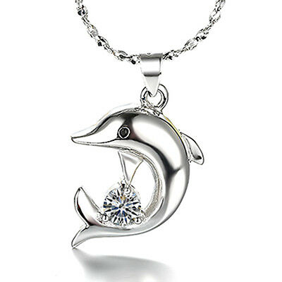New product Fashion jewelry Set 925 silver Dolphin zircon necklace earring Gifts
