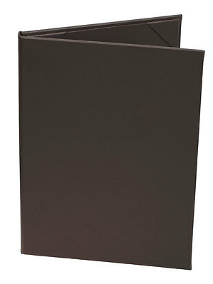 """(10pk) Menu Covers   Brown Faux Leather, 2-panel, 8.5"""" x 11"""""""