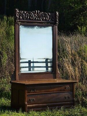 Connersville Dressing Table Carved Vanity Mirror Bedroom Furniture Antique
